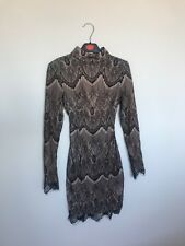House of CB black and nude lace backless dress XS, good condition