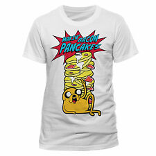 Adventure Time Men's Pancakes Short Sleeve T-shirt White Small