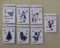 2016 ALDERNEY CHRISTMAS WHITE CHRISTMAS SET OF 7 MINT STAMPS