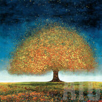 """DREAMING TREE BLUE (27x27"""") & RED (27x27"""") MELISSA GRAVES-BROWN - 2PC SET CANVAS"""