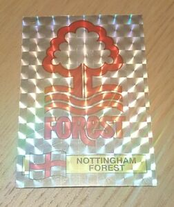 Panini football 86 #215 Nottingham forest foil badge crest shiny sticker 1986