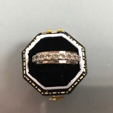 Women's Vintage Full-eternity 9ct Gold & Silver Ring Size L Weight 2.08g