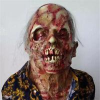 6| Horreur Sanglant Zombie Masque Latex Costume Déguisement Halloween Cadeau
