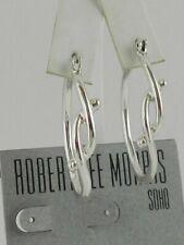 Robert Lee Morris Soho Silver-Tone Knot Hoop Earrings