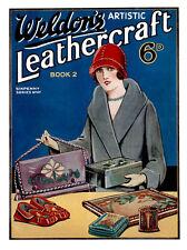 Weldon's 6D #127 c.1920 Artistic Leather-craft Vintage Instruction REPRO