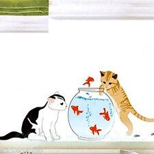CAT FISH AQUARIUM ROOM WALL ART STICKERS VINYL DECAL HOME DECORATION HOME DECOR