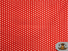 Fleece Printed POLKA DOT RED Fabric sold by the yard