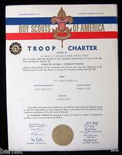 1957 BOY SCOUT - TROOP CHARTER - TROOP 161- MOUNT CARMEL, PENNSYLVANIA