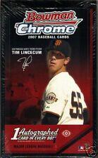 NIP 2007 Bowman Chrome Baseball 1 Pack Sealed 4 Cards
