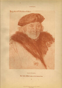 large reproduced  portraits from  the court of henry v111.sir john  moore