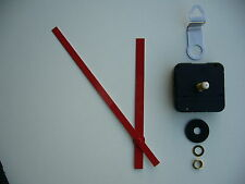 HIGH TORQUE CLOCK MOVEMENT EXTRA LONG SPINDLE 170MM RED BATON METAL HANDS