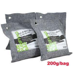 KIOKI Bamboo Charcoal Air Purifying Bag Odor Absorber Car Closet Deodorizer 4pc