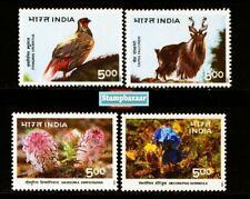 INDIA 1996 Himalayan Ecology Birds Flora Fauna Flower Nature Animals 4v MNH set