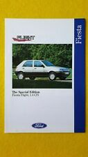 Ford Fiesta Flight 1.4 special edition car catalogue brochure August 1992 MINT B