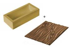 Stampo tronco natale in silicone Silikomart TEX07 magic wood plumcake Rotex