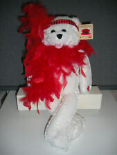 "Chantilly Lane Musical Bear 22"" ROXIE Red Boa Sings ""I Want to be Loved by You"""