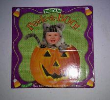 Picture Me Halloween Peek-A-Boo Custom Baby Board Book Keepsake Brag Photo