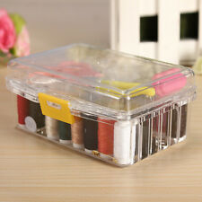 New 40pcs Sewing Box Kit Set Threader Needle Hand Tape Scissor Thimble