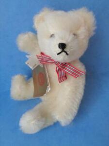 "6"" Hermann Miniature Teddy Bear WHITE MOHAIR 62/174 Antique Reproduction WGerman"