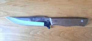Maxam Steel Fixed Blade Hunting Knife Special 420 Stainless With Sheath Japan