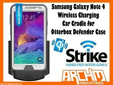 STRIKE SAMSUNG GALAXY NOTE 4 WIRELESS CHARGING CAR CRADLE OTTERBOX DEFENDER