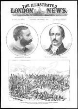 1885 Alfonso XII RE SPAGNA Maresciallo Serrano DUCA DE LA TORRE Bulgaria Guerra (219)