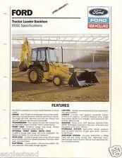 Equipment Brochure - Ford - 655C - Loader Backhoe - Prelim - 1989 (E1856)
