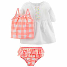Checked Tankini Set and cover up swim suit 3 pc set baby girl 24 months Carters