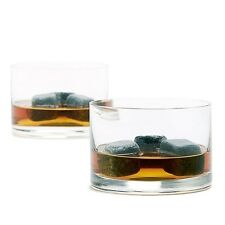 Teroforma Whisky for Two Set - 6 Whiskey Stones Beverage Cubes & Two Tumblers