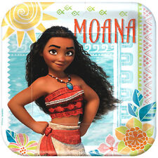 MOANA LARGE PAPER PLATES (8) ~ Birthday Party Supplies Dinner Lunch Disney Maui