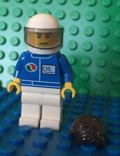 Lego Racing Car Driver Race Octan Oil Helmet Minifigures NEW