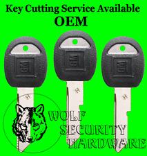 Lot of Three (3) GM Logo Door Trunk H Key Blank Black Plastic Molded Head Uncut