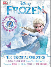 Disney Frozen The Essential Collection 2 Book Set Sing Along 150 Stickers NEW AU