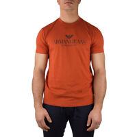 Armani Jeans T-Shirt Uomo Col Arancione tg L | -15 % OCCASIONE |