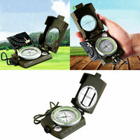 fessional Military Army Metal Sighting Compass Camping_Hiking R1D9