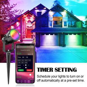 15W 12V RGB Garden Spotlight COB LED Outdoor Spike Lamp Path Yard Lawn Landscape