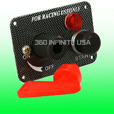 Push Button Start Switch BATTERY QUICK DISCONNECT CUT OFF Kill SWITCH + Red LED