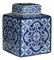 Festcool Blue and White Porcelain Square Jar Vase, Jingdezhen (8)