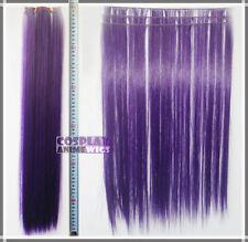 Dark Purple Hair Weft Extention (3 pieces) - 60cm High Temp - Cosplay 7_737