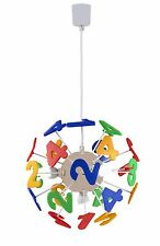 """Kids """"LED"""" EDUCATIONAL 123 numbers chandelier / Light Fixture Red - Green - Blue"""