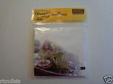 "3 Packs Designer Food Post-It 75 Super Sticky Notes 4"" X 4"" (3.9"" X 3.8"") 75/pk"