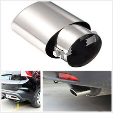 Silver Chrome Round Car SUV EXHAUST Tail Muffler Tip fit Pipe diameter 1.8-2.2 T