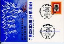 Gedenkkarte - Musikschau der Nationen - Bremen 1971