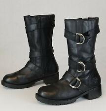 Harley Davidson Angelia Black Triple Strap Motorcycle Boots 86225 Womens US 6