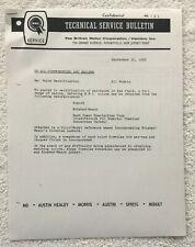 Bmc Paint Formulations, 1966, for Austin-Healey, Mg, Mini