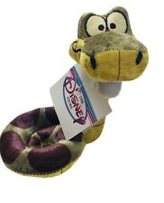 "Disney Store Bean Bag Plush Jungle Book Baby Kaa 7"" With Rattle. Rare!"