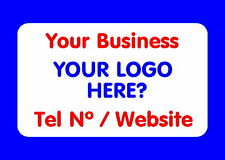 21 PERSONALISED GLOSSY BUSINESS NAME STICKERS, LABELS, YOUR LOGO AND TEXT