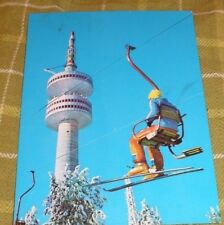 BULGARIA POSTCARD WITH PAMPOROVO TV-TOWER IN SNEZHANKA HILL