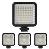 Luz de la camara de video 4X Mini DC 3V 5.5W 49 LED Panel de luz 6000K para Y2M6