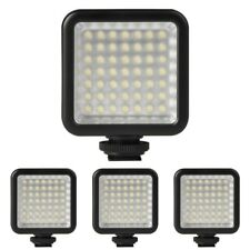 Luz de la camara de video 4X Mini DC 3V 5.5W 49 LED Panel de luz 6000K para Y2M6